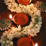 Easy #Diwali décor ideas. Jasmine garlands can add instant freshness to your Di...