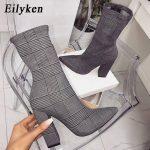 Eilyken Plaid Print Boots