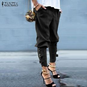 Elegant Casual Loose Pockets Pants