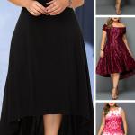 Elegant Plus Size Spring Summer Dresses For Curvy Girls~