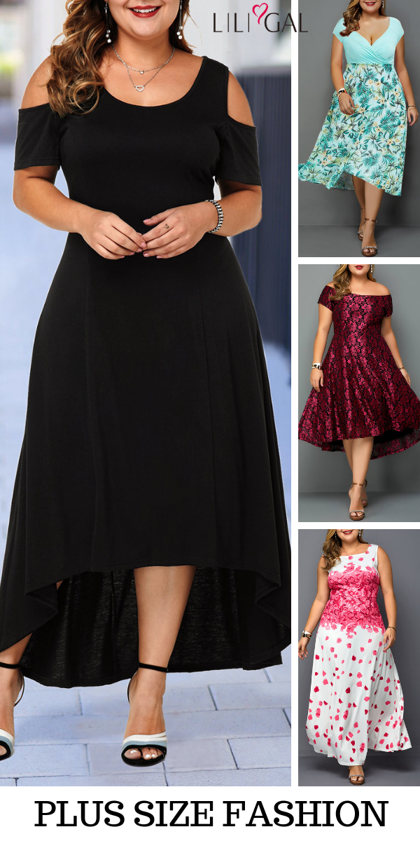 Elegant Plus Size Spring Summer Dresses For Curvy Girls~