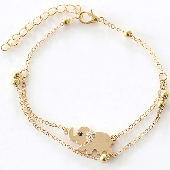 Elephant Chain Ankle Bracelet