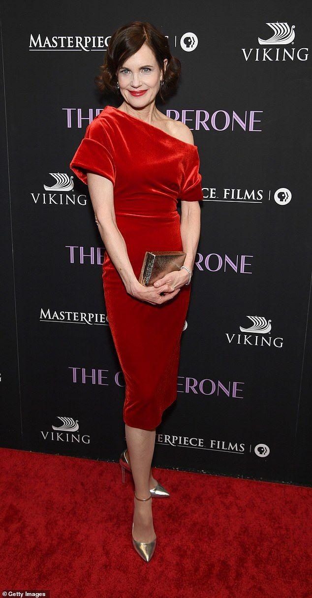 Elizabeth McGovern joins Haley Lu Richardson at Chaperone premiere