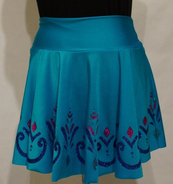 Elsa Coronation Frozen Running Skirt: