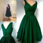 Emerald Green 1950s Cocktail Dress Vintage Tea Length Plus Size Chiffon Overlay Elegant Cocktail party Dress
