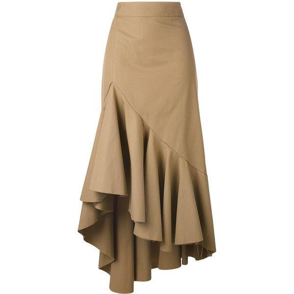 Erika Cavallini asymmetric skirt (€300) ❤ liked on Polyvore featuring skirts…
