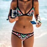 Ethnic Print Swimsuit Swimwear Bikini Set