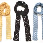 Eyelet Skinny Scarves - PDF Crochet Pattern - Instant Download
