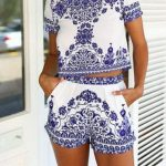 FASHION BLUE AND WHITE PORCELAIN DRESS from Fashion designer