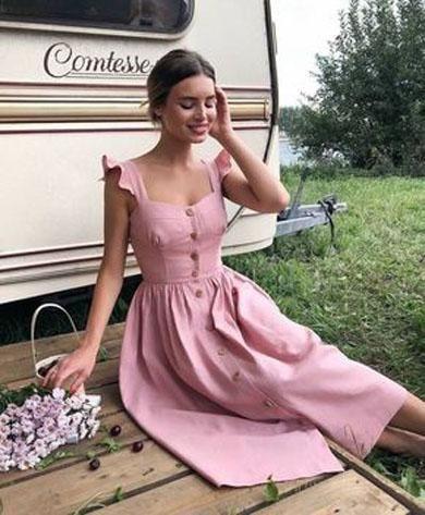 FLORINE button camis dress