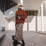 Fall trends leopard slip skirt