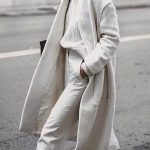 Fashion Chic Plain Loose Wool Long Coat
