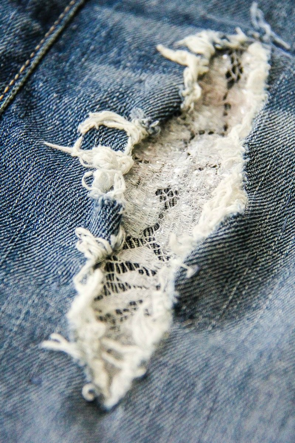 Fashion Fix: Patching Holes in Jeans with Lace