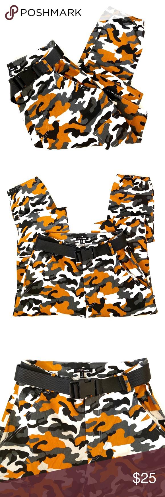 Fashion Nova | High Waist Camo Cargo Pants ✨Fashion Nova | High Waist Camoufla…
