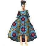 Fashion Summer African Dresses for Women Wax Print Snowflake Pattern Vestidos Lo...