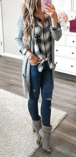Fashion Trends Accesories – #fall #outfits women's gray cardigan The signing of …