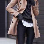 Fashion Turndown Collar Pure Colour Long Sleeve Coat
