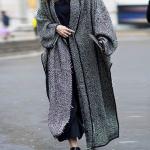 Fashion women's solid color long-sleeved long coat - florafafa.com