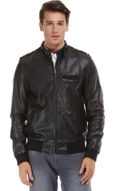 Faux Leather Jacket – Black