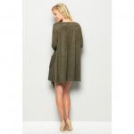 Faux Suede Olive Fringe Dress This beautiful dress should be in your closet for ...