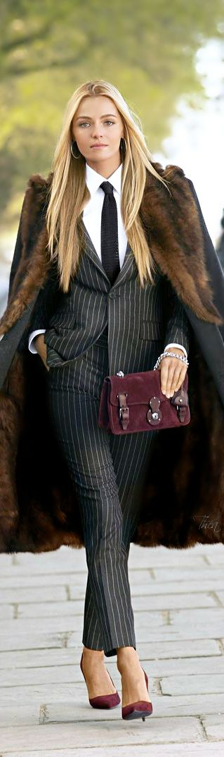 Feel luxurious in menswear inspired clothes just like this look by Ralph Lauren