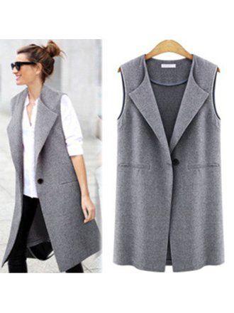 Feinuhan – Women Casual Sleeveless Long Duster Coat Jacket Cardigan Suit Vest Waistcoat New – Walmart.com