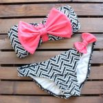 Final Sale - Dippin Daisy - Sailor Gal Bow Bandeau Bikini in Navy and Red