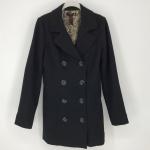 Forever 21 Black Double Breasted Pea Coat EUC XXI Black Wool Blend Pea Coat. Dou...