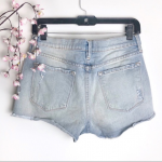 Frame Le Cutoff Distressed Lightwash Denim Shorts Frame Le Cutoff style, distres...