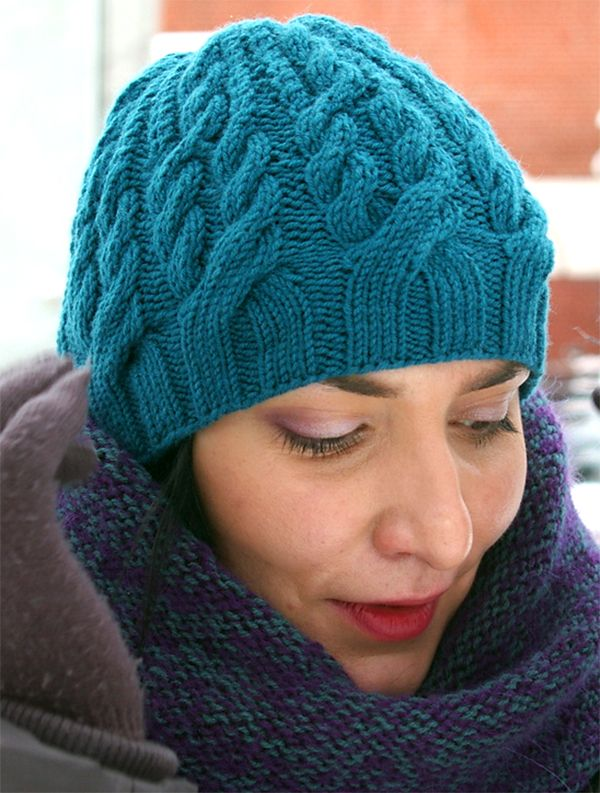 Free Knitting Pattern for Balta Beanie Knit Flat – Hat with intertwined cables k…
