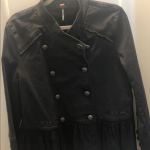Free People Black Hem Military Jacket Very cute Free People Black jacket  Detail...