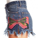 Free People Fields of Sun Painted Jean Shorts These Free People Fields of Sun Pa...