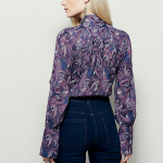 Free People Modern Muse blouse Free People Modern Muse collared long sleeve blou...