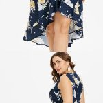 Free shipment worldwide, $25.49, Plus Size Sleeveless High Low Floral Dress - De...