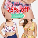 Free shipping over $45, Rosegal plus size swimsuit high waisted swimwear 2019 tr...