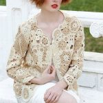 Freeform Crochet Bolero Shrug Sweater in Beige and Soft Brown.  Etsy.  www.etsy....