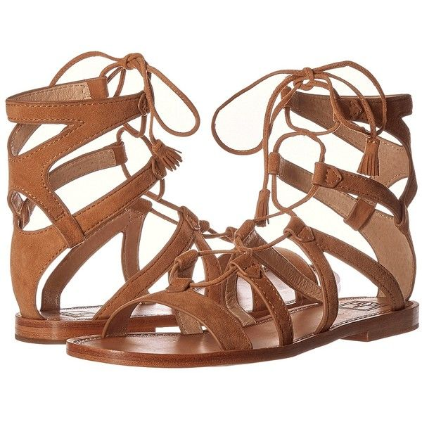 Frye Ruth Gladiator Short Sandal Women's Sandals ($228) ❤ liked on Polyvore fe…