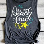 Funny Beach Shirt Resting Beach Face Beach Cover Up Summer Vacation Tank Muscle Tanks Beach Please Tee Flowy Swimsuit Coverup Beach Bound