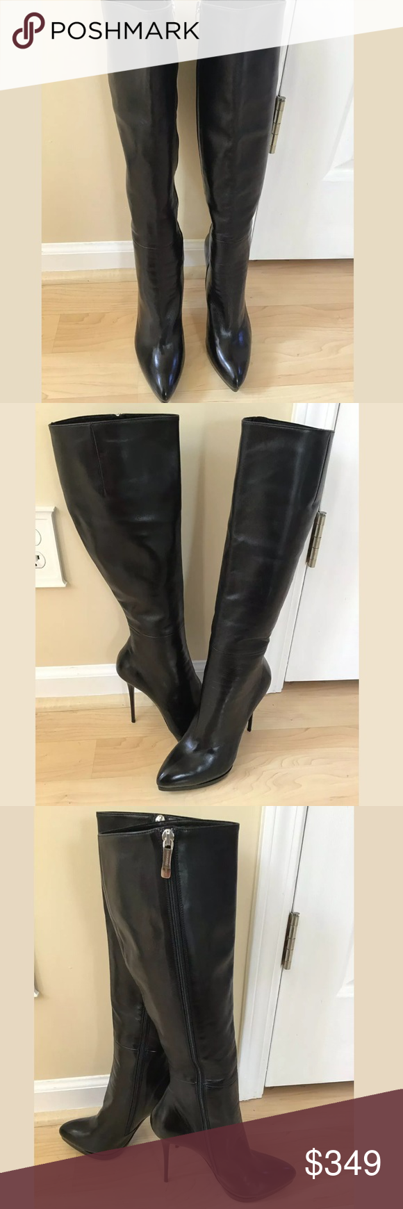 Gianmarco Lorenzi Black Leather Boots Every now and again I get an item to resal…