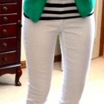 Gifted top, H&M blazer, Joe Fresh Denim Jegging via JCP (in white), F21 pearl ne...