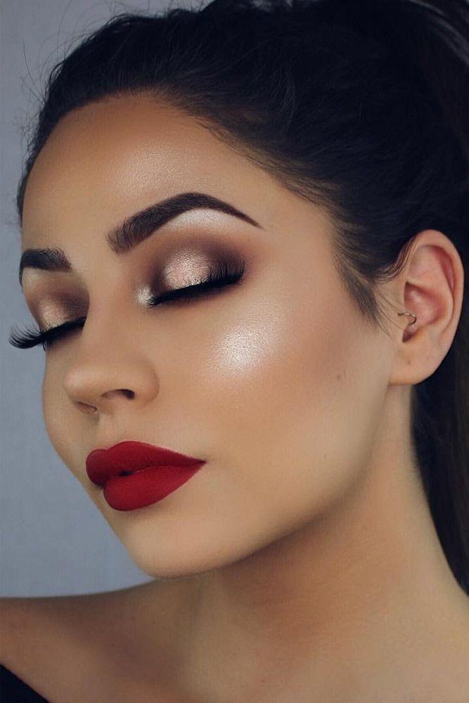 Glam Makeup Red Lips  Julakutuhy.co