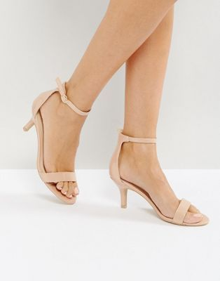 Glamorous Barely There Kitten Heeled Sandals | ASOS