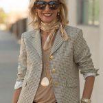 Glen Plaid Cocoon Jacket