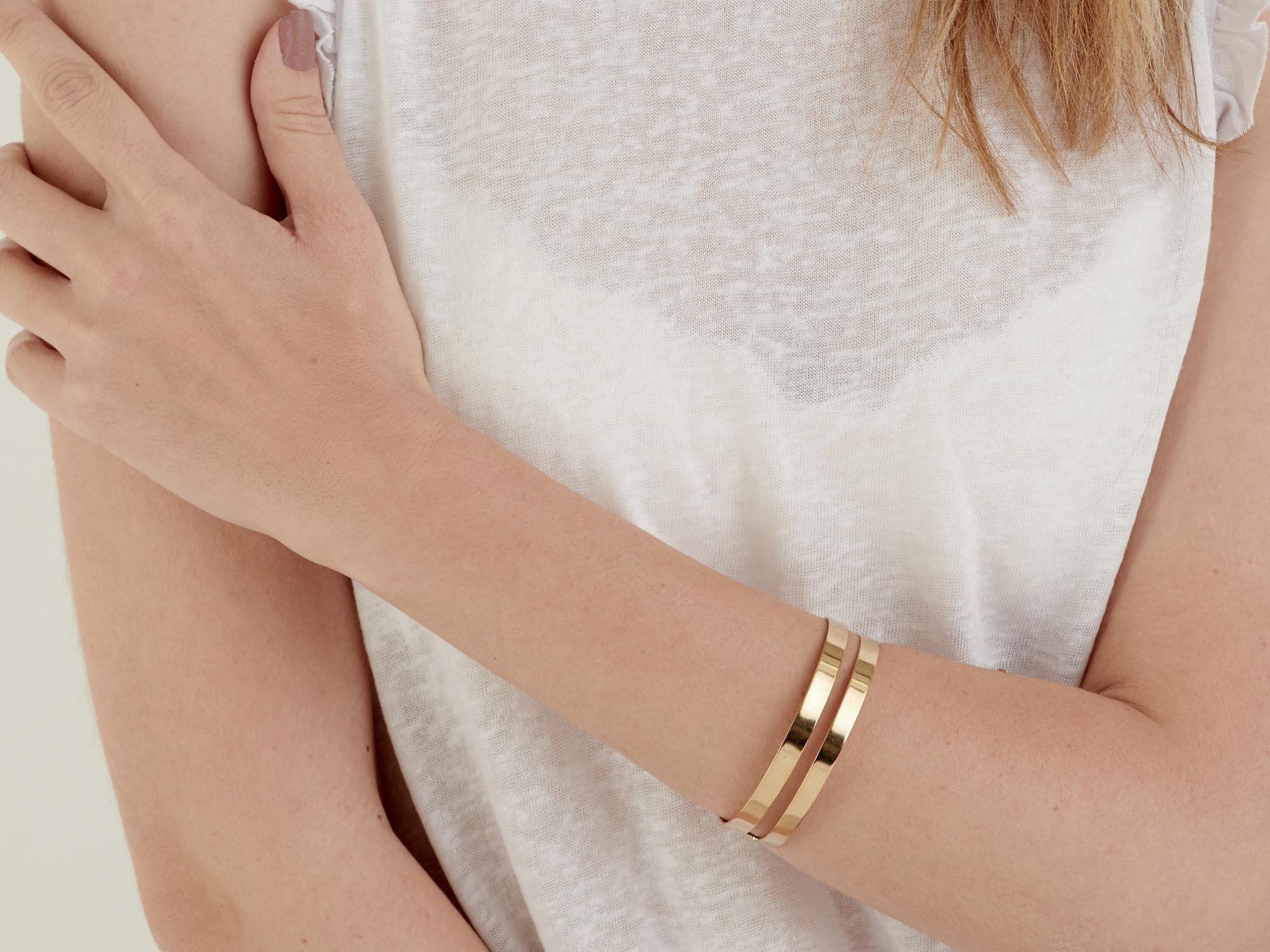 Gold Cuff Bracelet, Adjustable Bracelet, Minimalist Bracelet for Women, Statement Jewelry, Anniversary Gift, Dainty Stackable Bracelets
