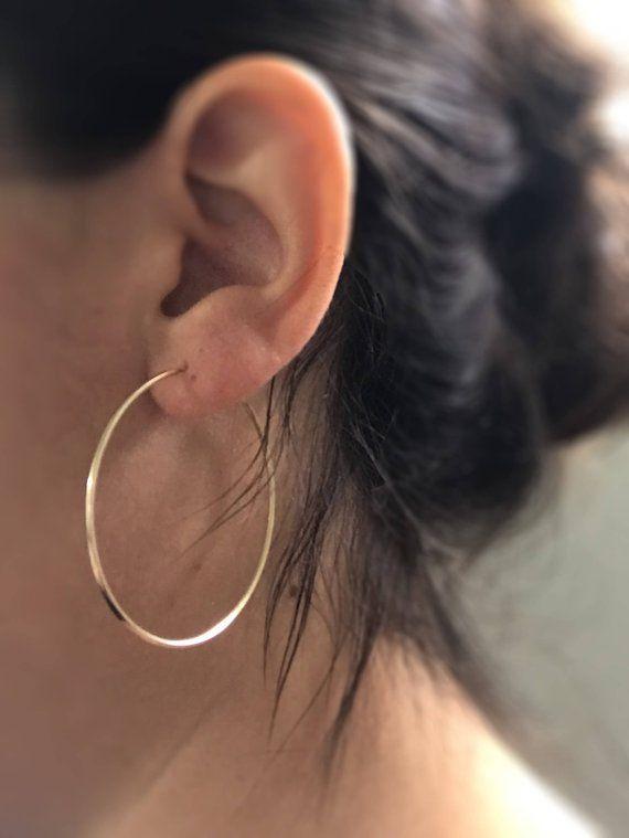 Gold Filled hoops – Gypsy hoops – High quality gold hoops – Simple Hoop Earrings – Small medium large hoops – big gold hoops – pair of hoops