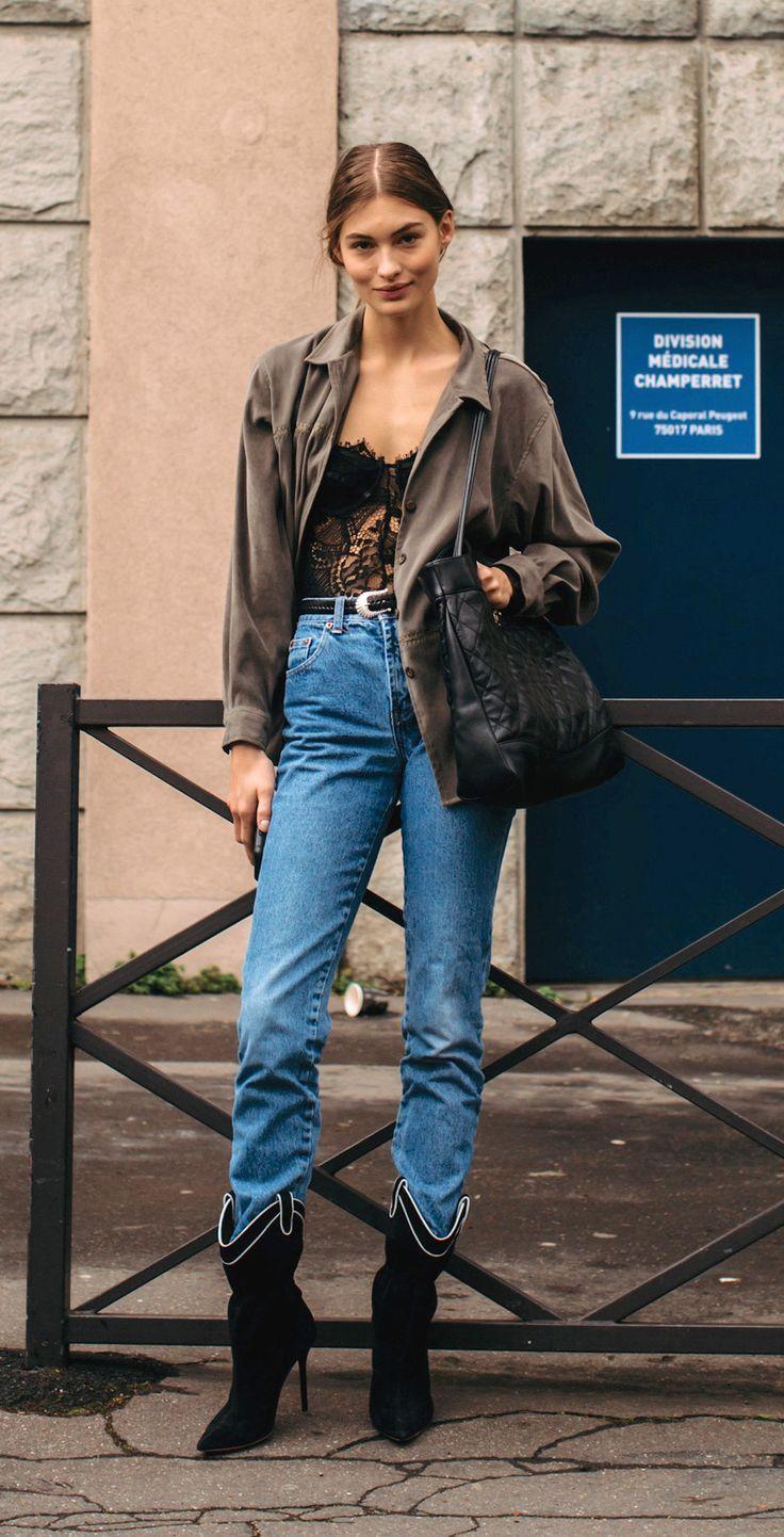 Grace Elizabeth off-duty. Paris Fashion Week, Fall 2019.