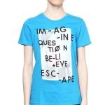 Graphic Print T-Shirt - Turquoise