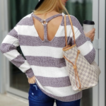 Gray Striped Chenille Sweater So Soft Loving this oh so soft striped Sweater!! A...