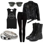 Grunge / Rock Winter Outfits For Women | FashionGum.com