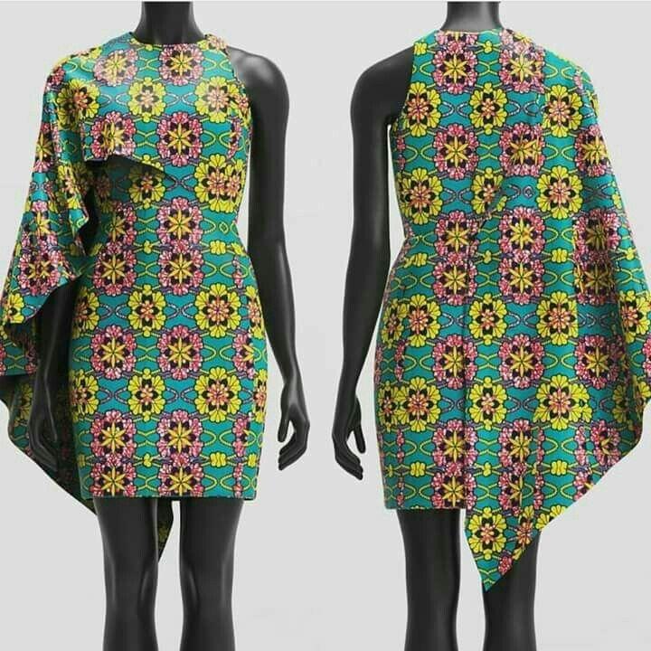 HOW TO MAKE AN ASYMMETRICAL CAPE DRESS